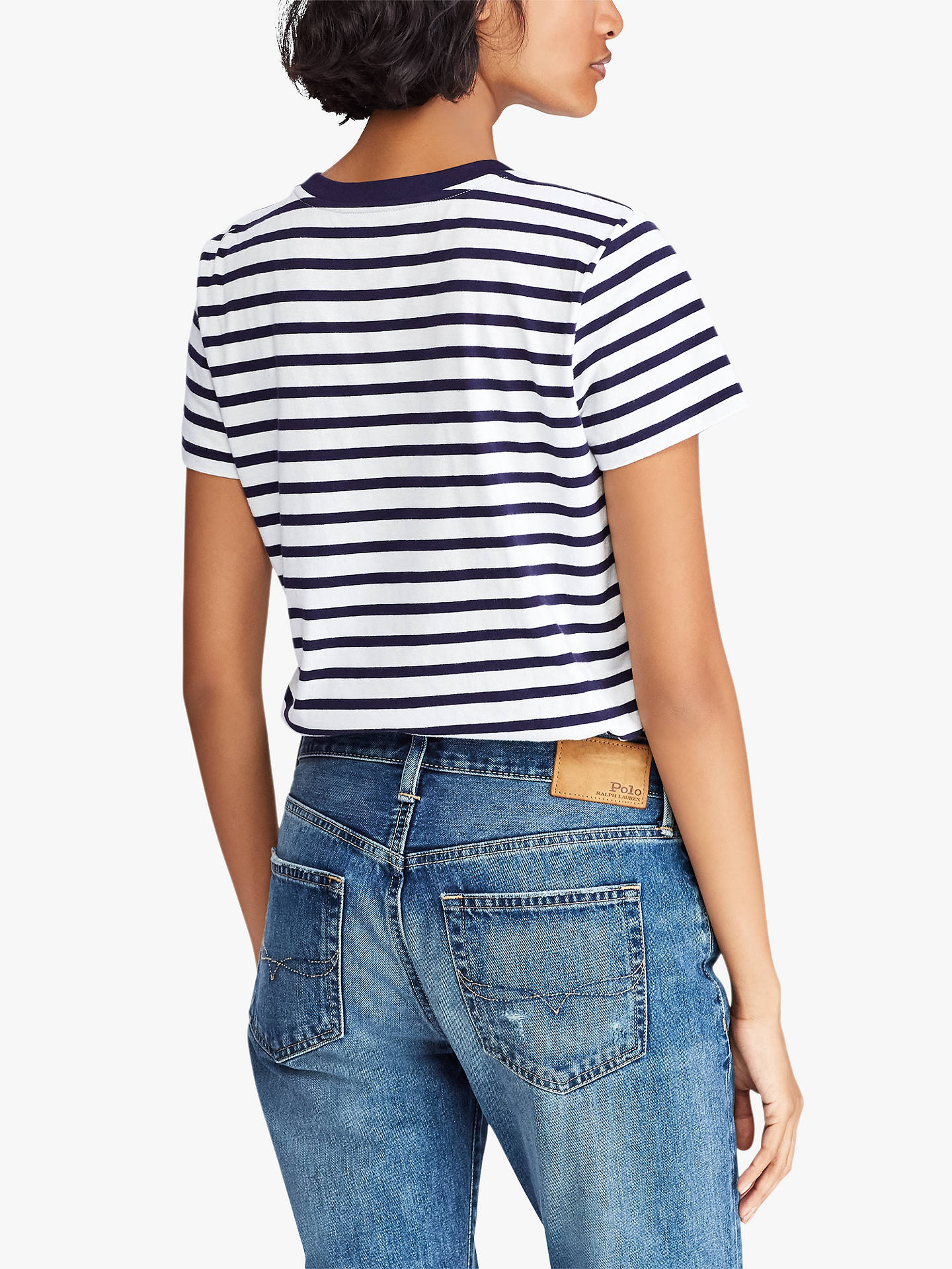 Cotton Lauren ShirtWhitenew Polo Ralph Striped T At Navy Nautical H9eEYWDI2