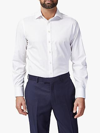 Chester by Chester Barrie Twill Stretch Shirt, White