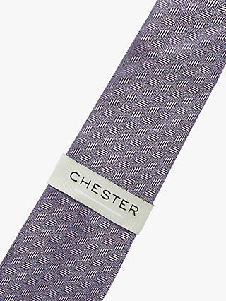 Chester by Chester Barrie Spot Stripe Silk Tie