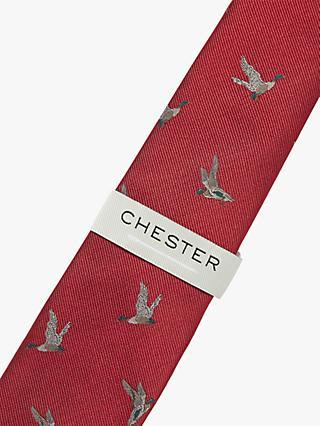 Chester by Chester Barrie Silk Duck Tie, Red