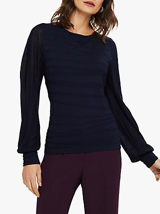 Phase Eight Benita Balloon Sleeve Knit, Navy