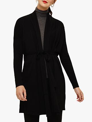 Phase Eight Lynette Long Line Cardigan, Black