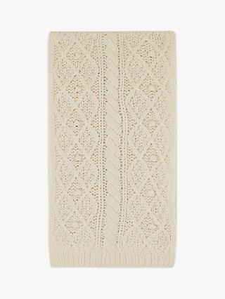 Gerard Darel Emily Wool Textured Knit Scarf