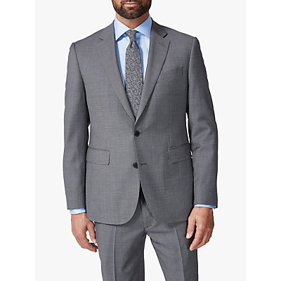 Chester by Chester Barrie Traveller Wool Textured Tailored Suit Jacket, Grey