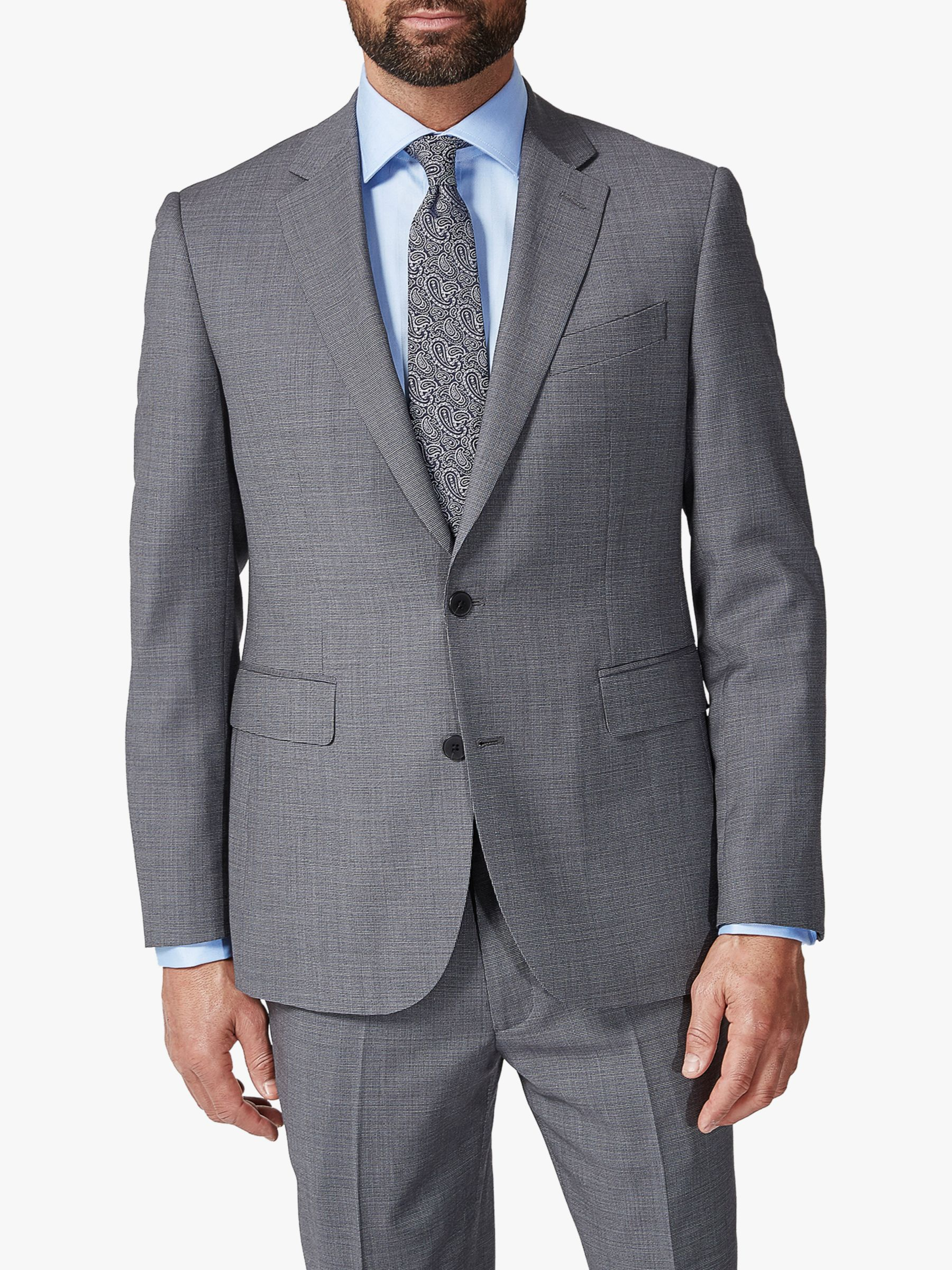 Chester by Chester Barrie Chester by Chester Barrie Traveller Wool Textured Tailored Suit Jacket, Grey