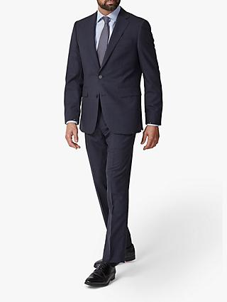 Chester by Chester Barrie Traveller Wool Subtle Check Tailored Suit Jacket, Navy