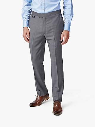 Chester by Chester Barrie Traveller Wool Textured Tailored Suit Trousers, Grey