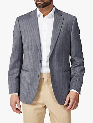 Chester by Chester Barrie Herringbone Stripe Blazer, Blue