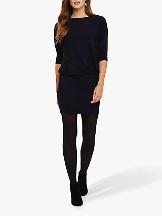 Phase Eight Becca Star Batwing Knit Jumper, Navy/Charcoal