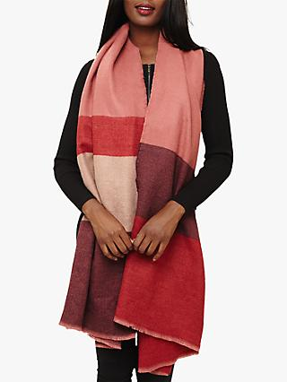 Phase Eight Nella Colour Block Scarf, Pink Multi