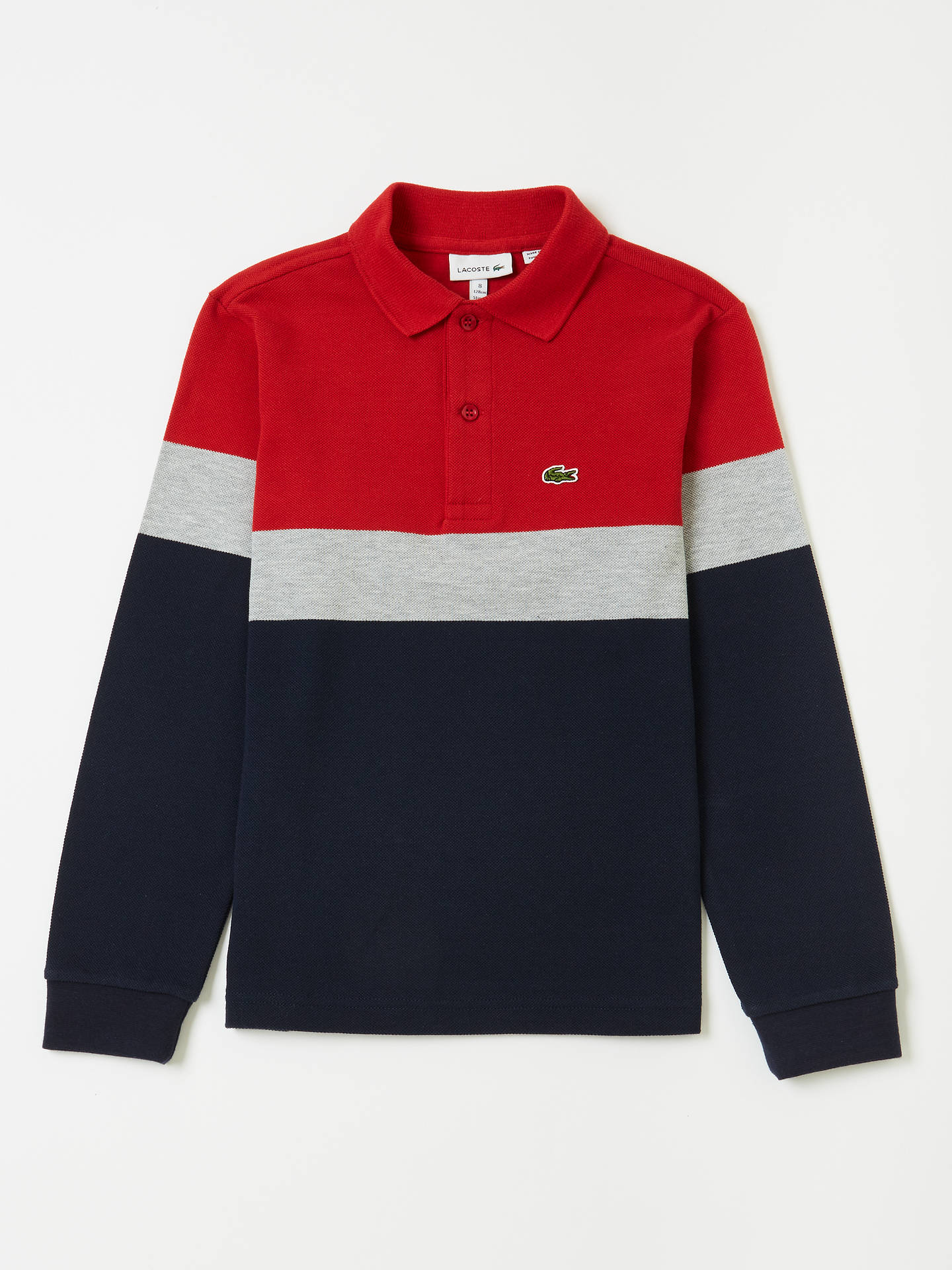 802ab7459d Buy Lacoste Boys' Stripe Polo Shirt, Multi, 12 years Online at johnlewis.