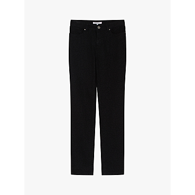 Gerard Darel Straight Leg Animal Print Jeans, Black