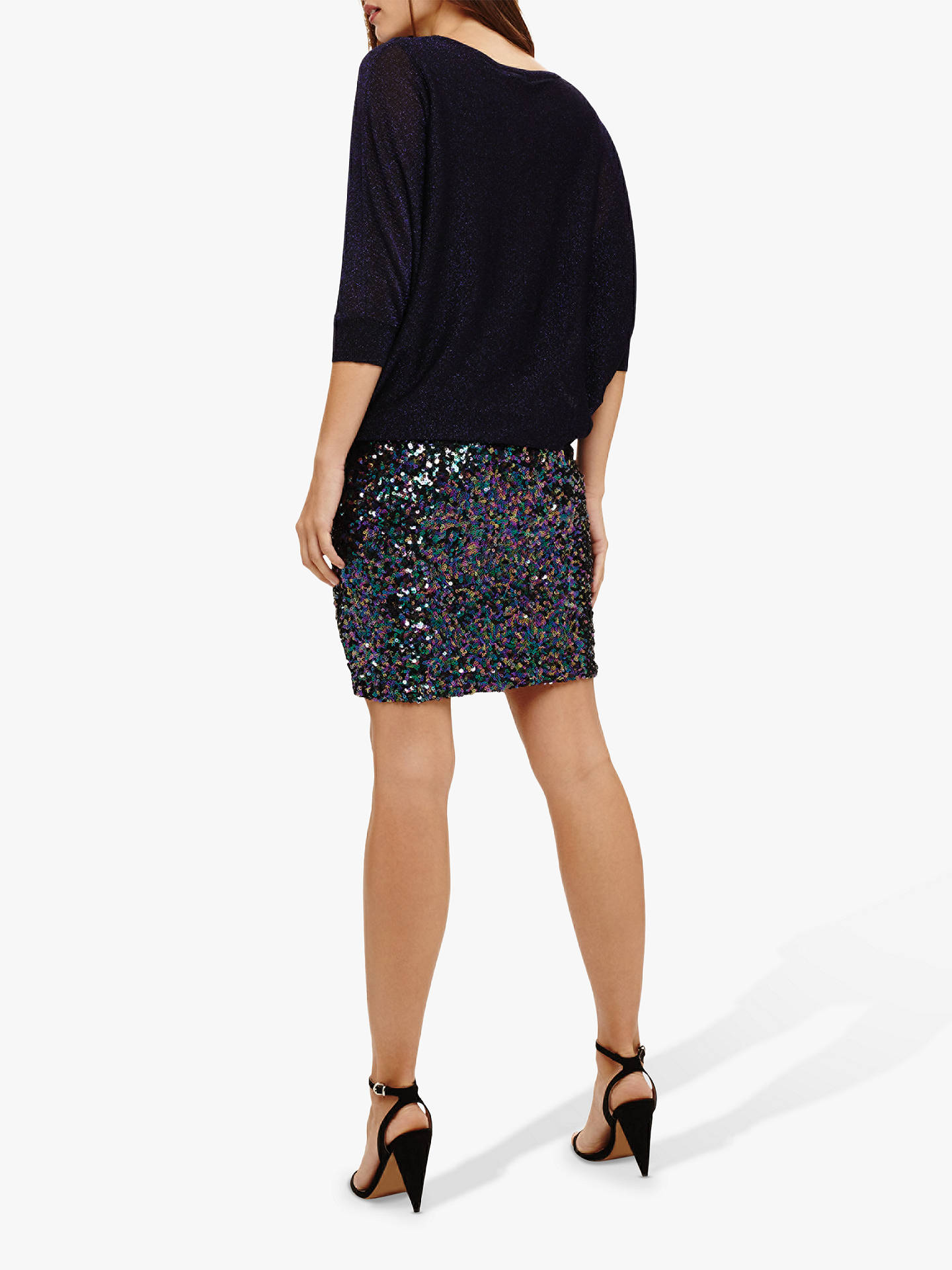 13834455 Buy Phase Eight Geonna Sequin Skirt Knit Dress, Blackcurrant, 8 Online at  johnlewis.