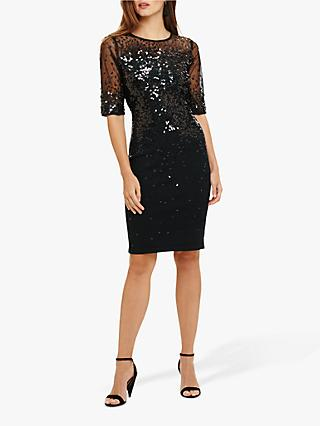 Phase Eight Orlena Embellished Knitted Dress, Pine