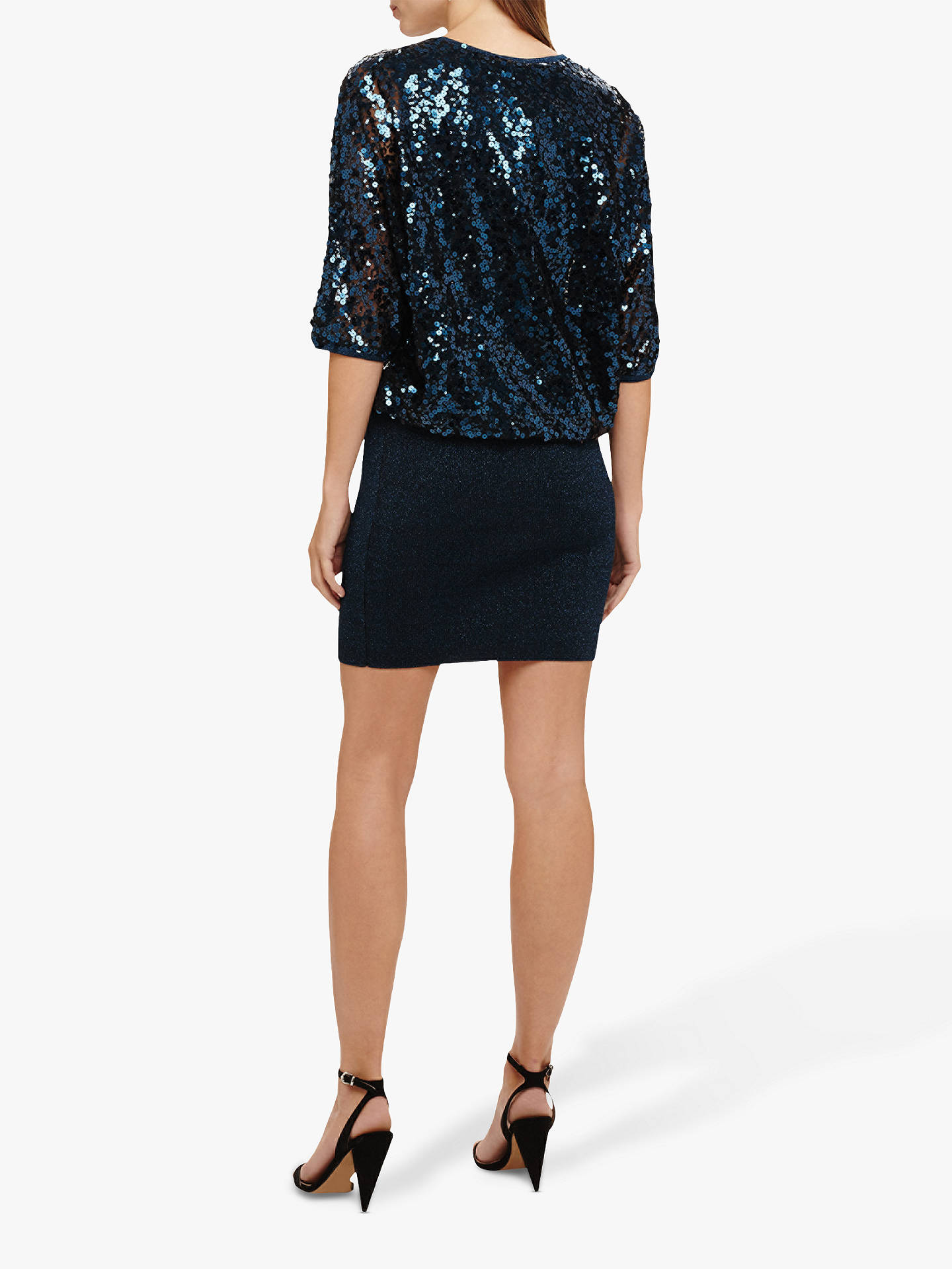 79dbc10a ... Buy Phase Eight Becca Sequin Bodice Dress, Petrol, 8 Online at  johnlewis.com ...
