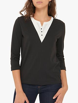 Gerard Darel Naomi Button Up T-Shirt, Black