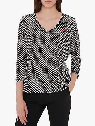 Gerard Darel Ness Heart V-Neck T-Shirt, Black