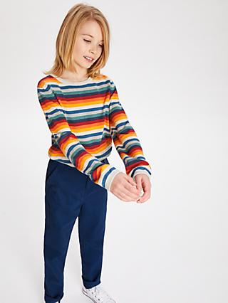 John Lewis & Partners Boys' Stripe Jumper, Multi
