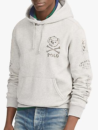 Polo Ralph Lauren Bear Fleece Hoodie, Andover Heather