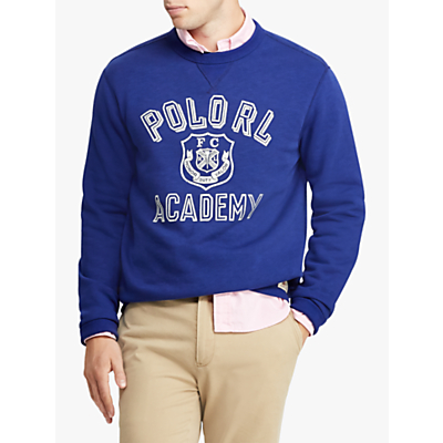 Polo Ralph Lauren Graphic Crew Jumper, Yale Blue