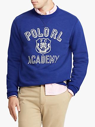 Polo Ralph Lauren Graphic Crew Jumper, Yale Blue