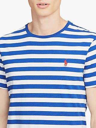 Polo Ralph Lauren Stripe T-Shirt, Cruise Royal Blue/White