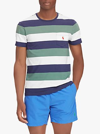 Polo Ralph Lauren Large Stripe T-Shirt, Washed Forest
