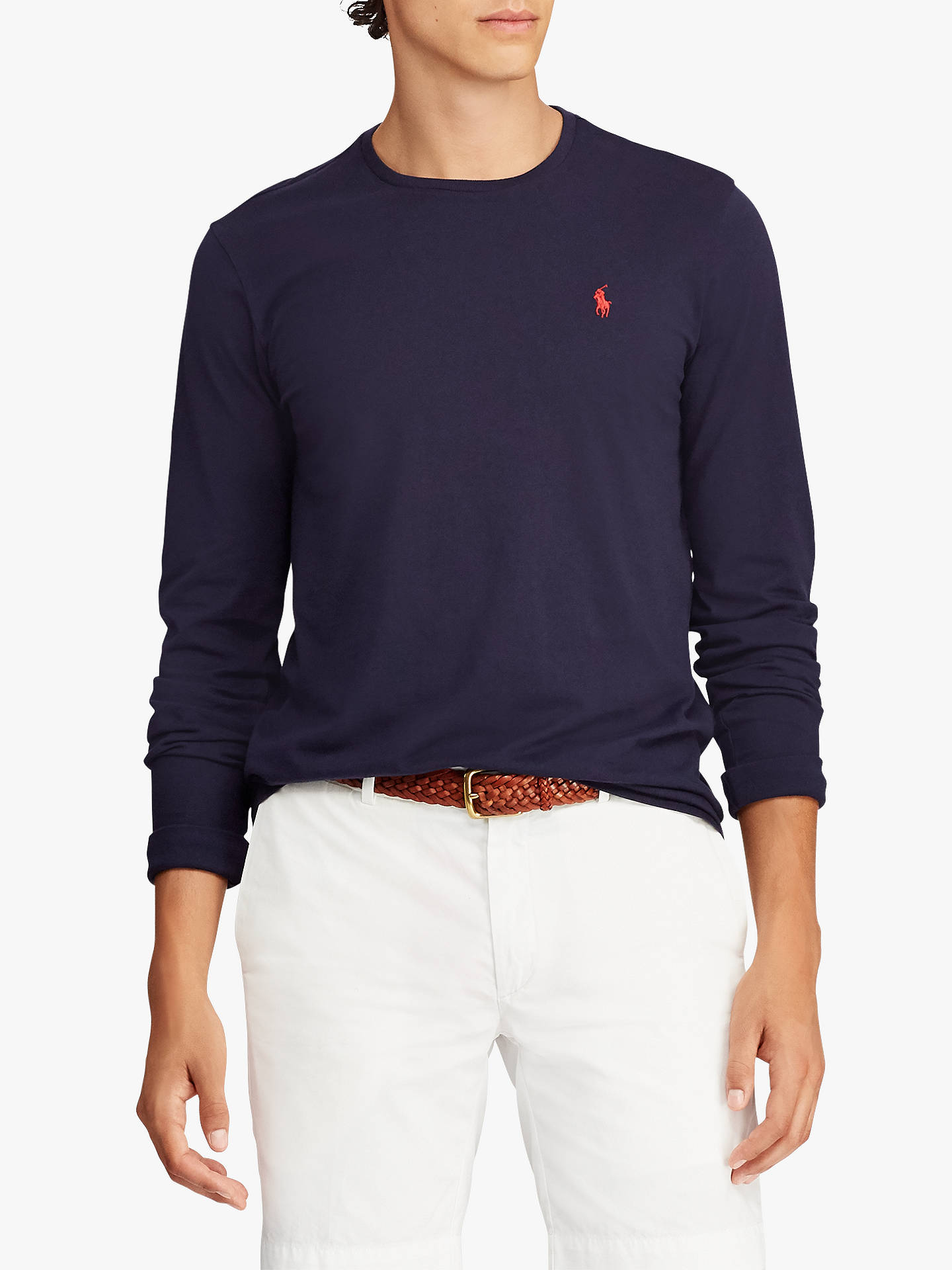 f84a69ae Buy Polo Ralph Lauren Crew Neck T-Shirt, Ink, XXL Online at johnlewis ...