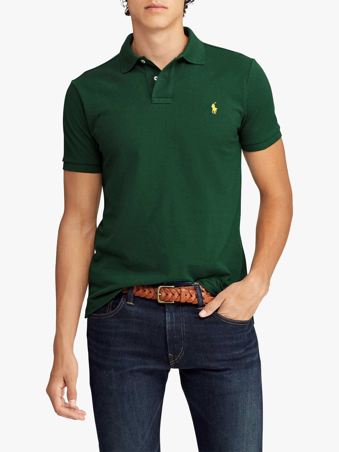 Polo Ralph Lauren Slim Fit Stretch Mesh Polo Shirt at John Lewis