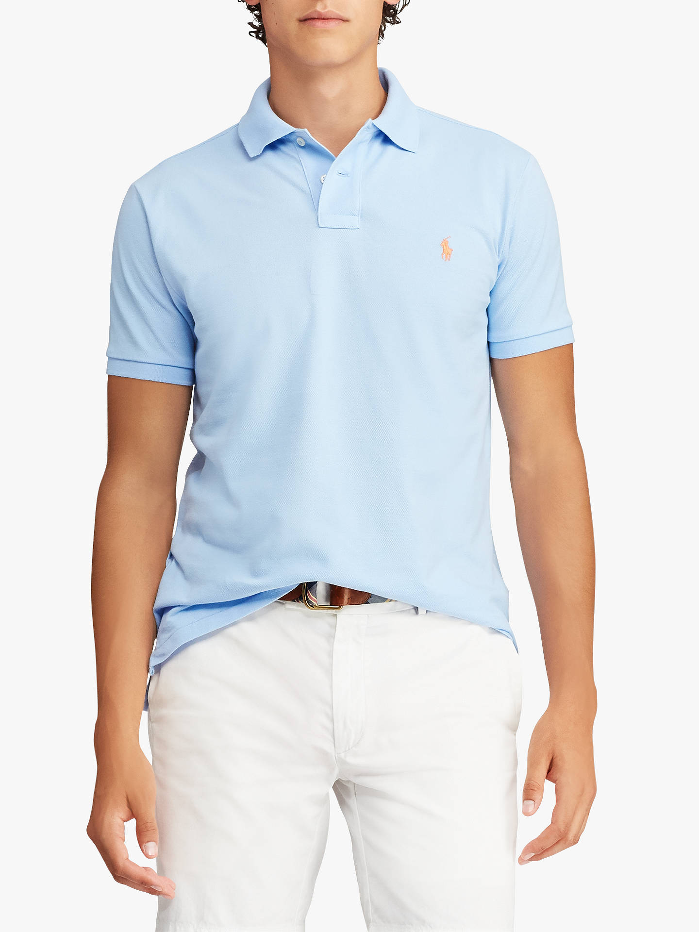 4119cde208513 Polo Ralph Lauren Slim Fit Mesh Polo Shirt at John Lewis   Partners