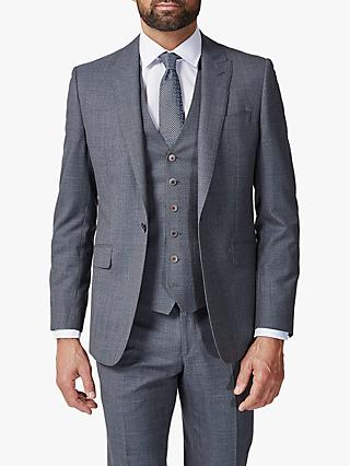 Richard James Mayfair Melange Sharkskin Slim Suit Jacket, Grey