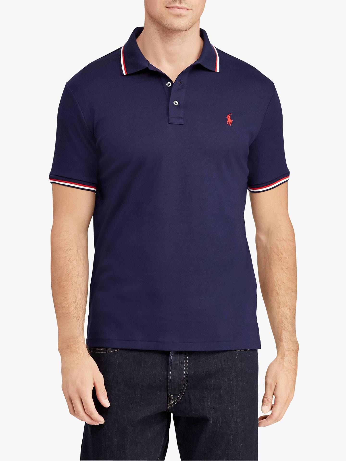 d64cdb637 Polo Ralph Lauren Custom Slim Soft Touch Polo Shirt at John Lewis ...