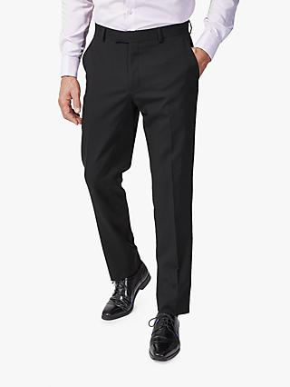 Richard James Mayfair Wool Slim Suit Trousers, Black