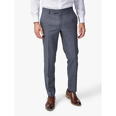 Richard James Mayfair Melange Sharkskin Slim Suit Trousers, Grey