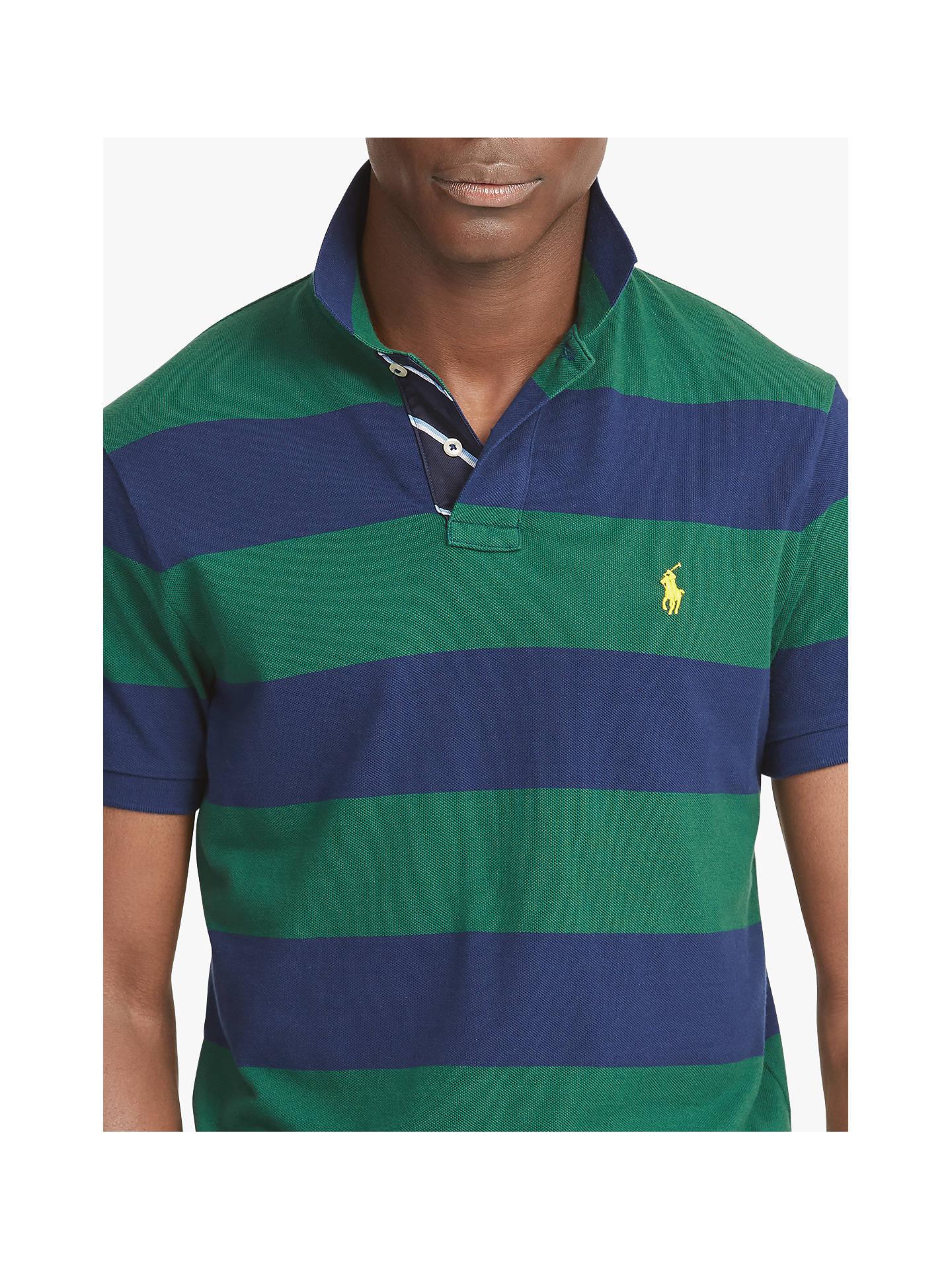 Lauren Stripe John Slim Polo Fit At Ralph Shirt Custom Lewis e2YWHIED9b