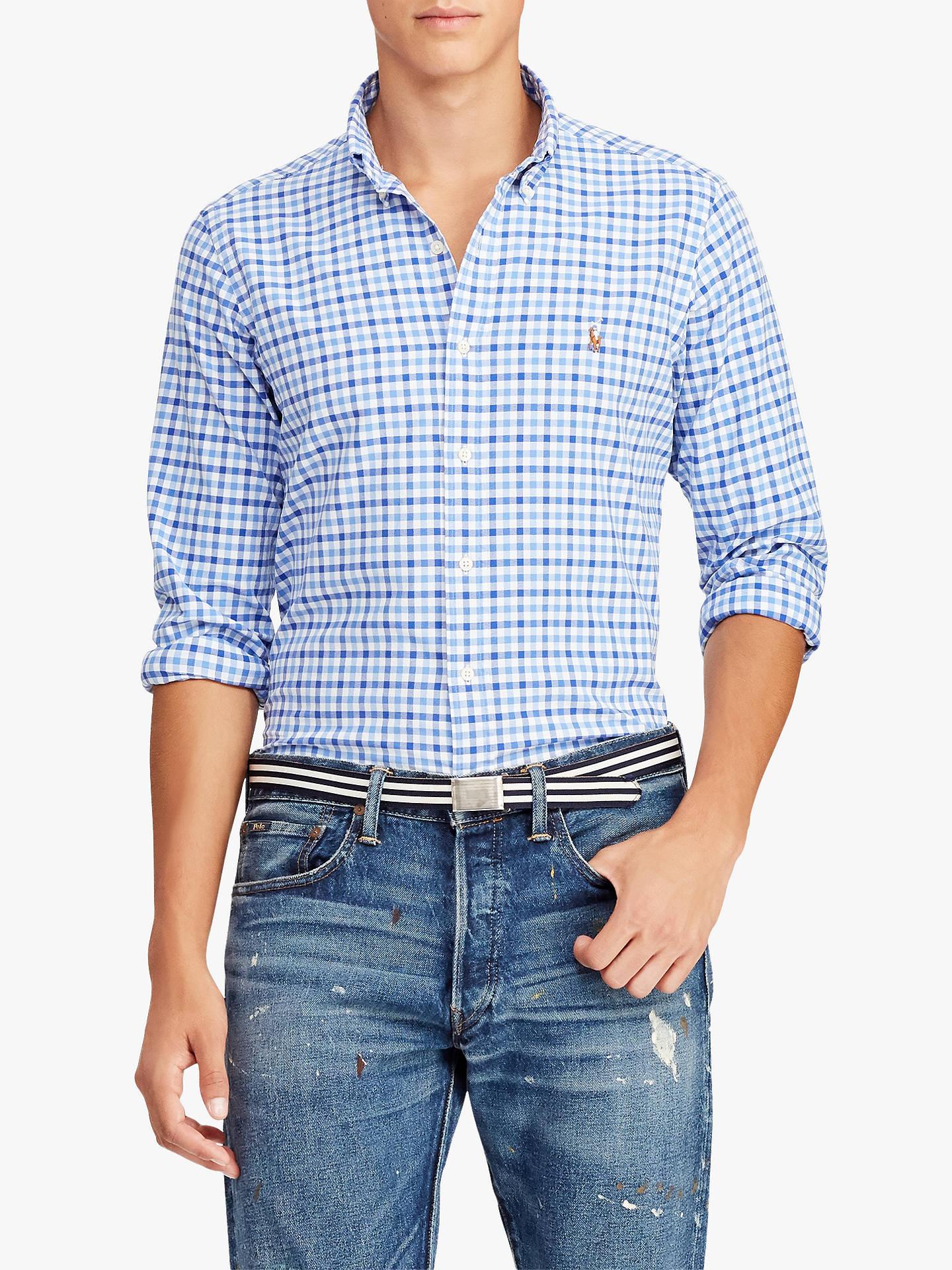 3524921645 Polo Ralph Lauren Classic Fit Plaid Oxford Shirt at John Lewis ...
