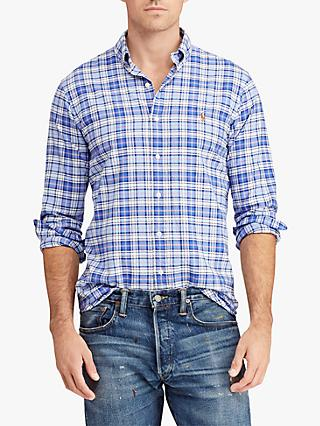 cb917e6245b9 Polo Ralph Lauren Classic Fit Plaid Oxford Shirt
