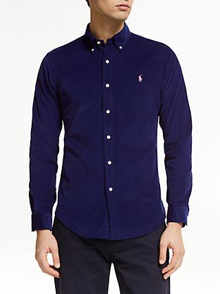 Polo Ralph Lauren Long Sleeve Cord Shirt, Holiday Navy