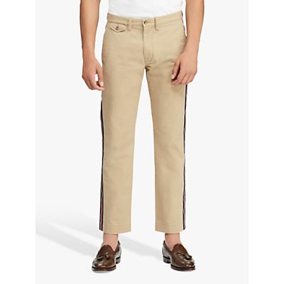 Polo Ralph Lauren Stripe Stretch Chino Trousers, Luxury Tan Stripe