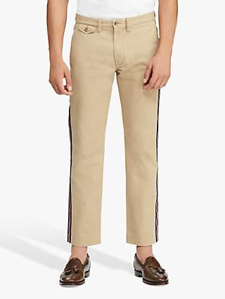 Polo Ralph Lauren Stripe Stretch Chino Trousers, Luxury Tan Stripe