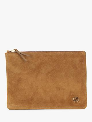 Gerard Darel Pocket Leather Pouch, Tobacco