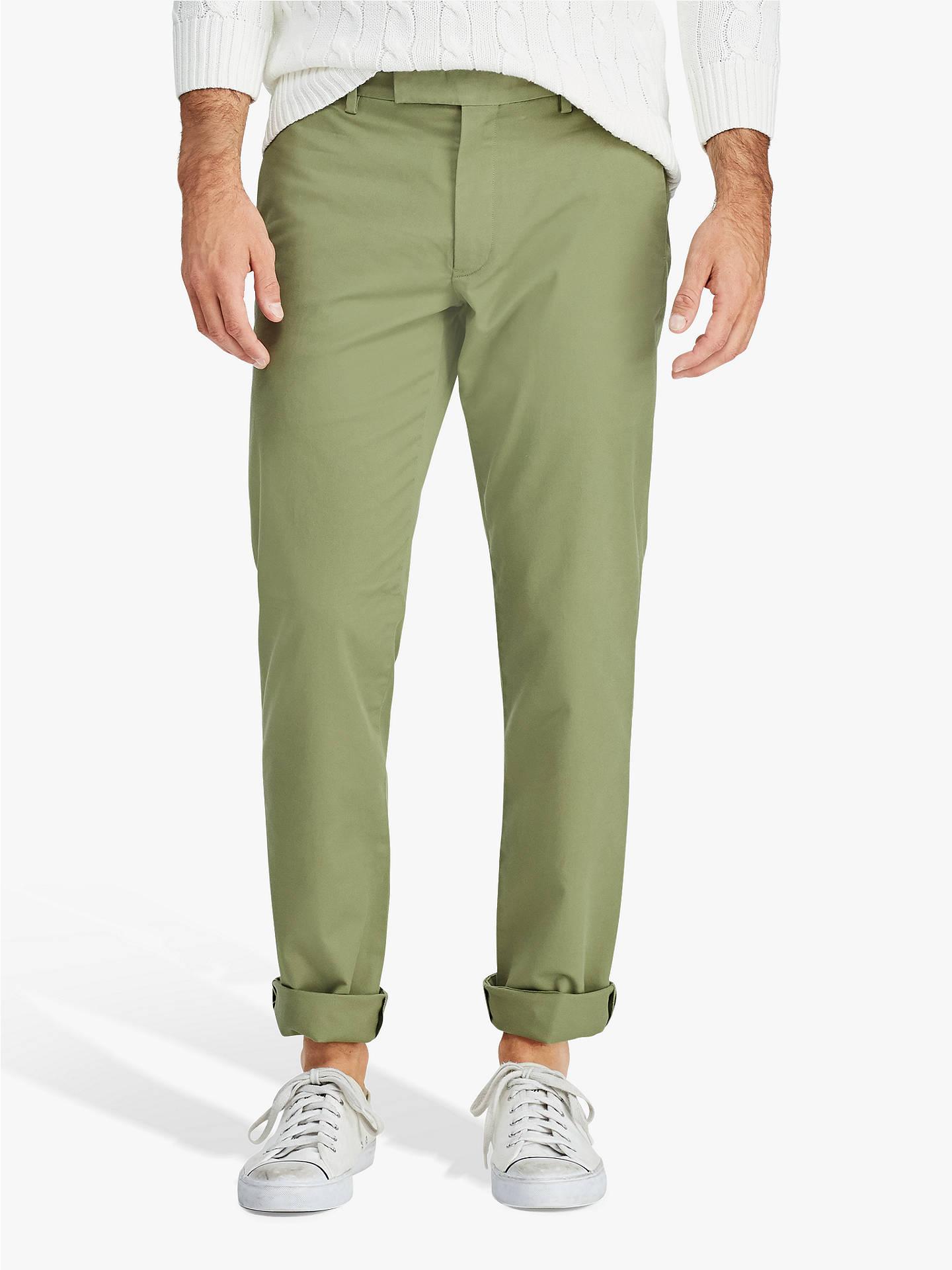 eee06ad9 Polo Ralph Lauren Flat Pant Slim Chino, Spanish Green at John Lewis ...