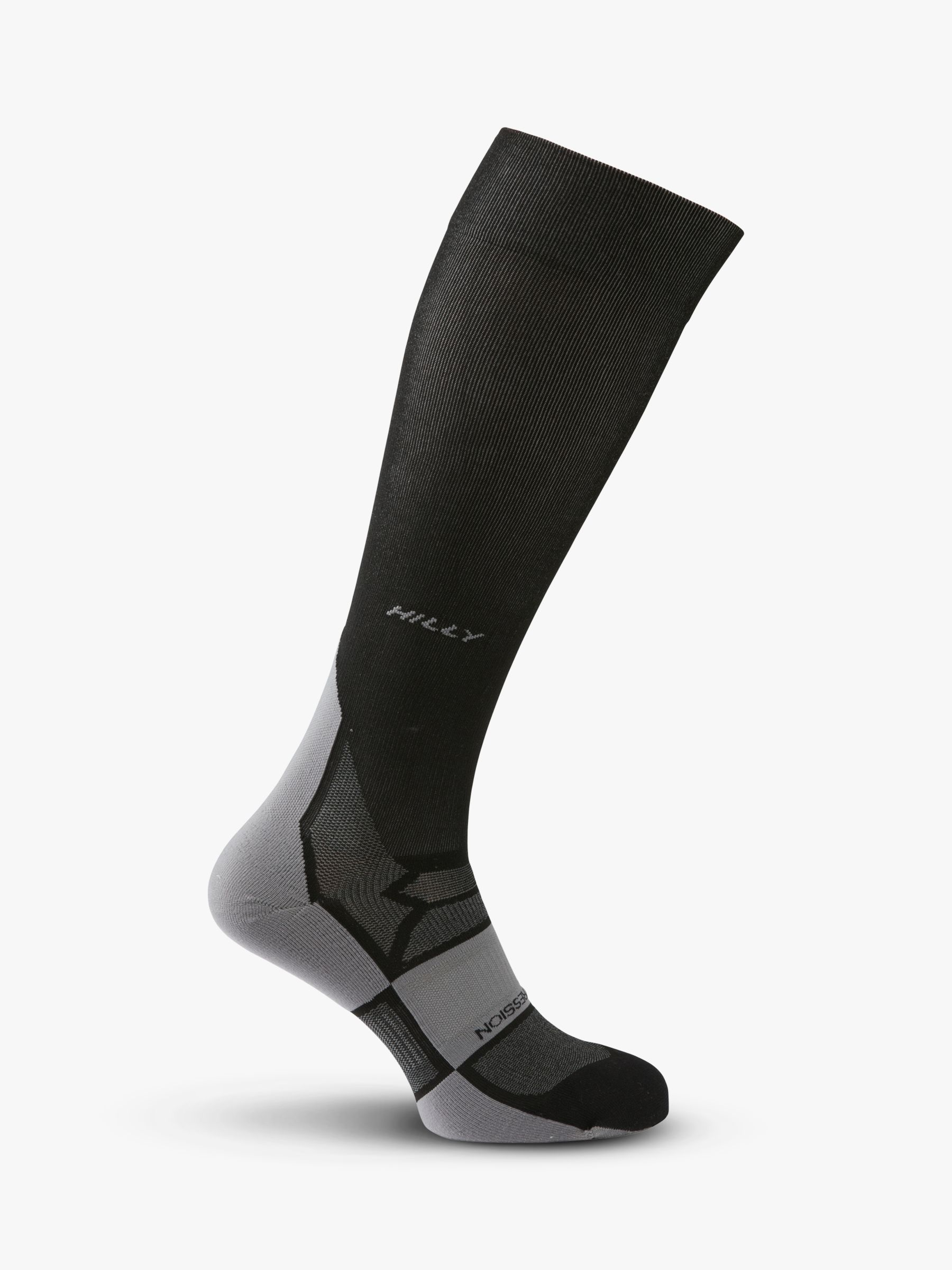 Hilly Hilly Pulse Compression Running Socks, Black/Grey