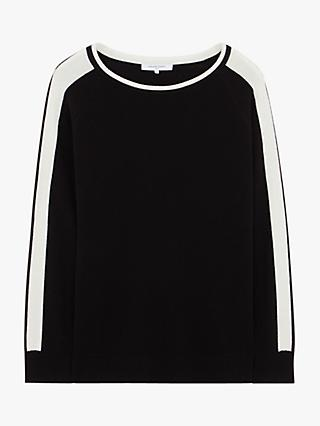 Gerard Darel Clarisse Two Tone Round Neck Knitted Top, Black/White