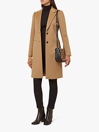 Hobbs Tilda Wool Tailored Coat, Camel