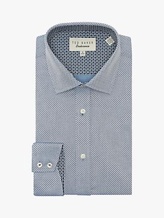 Ted Baker Clamme Diamond Spot Shirt, Blue