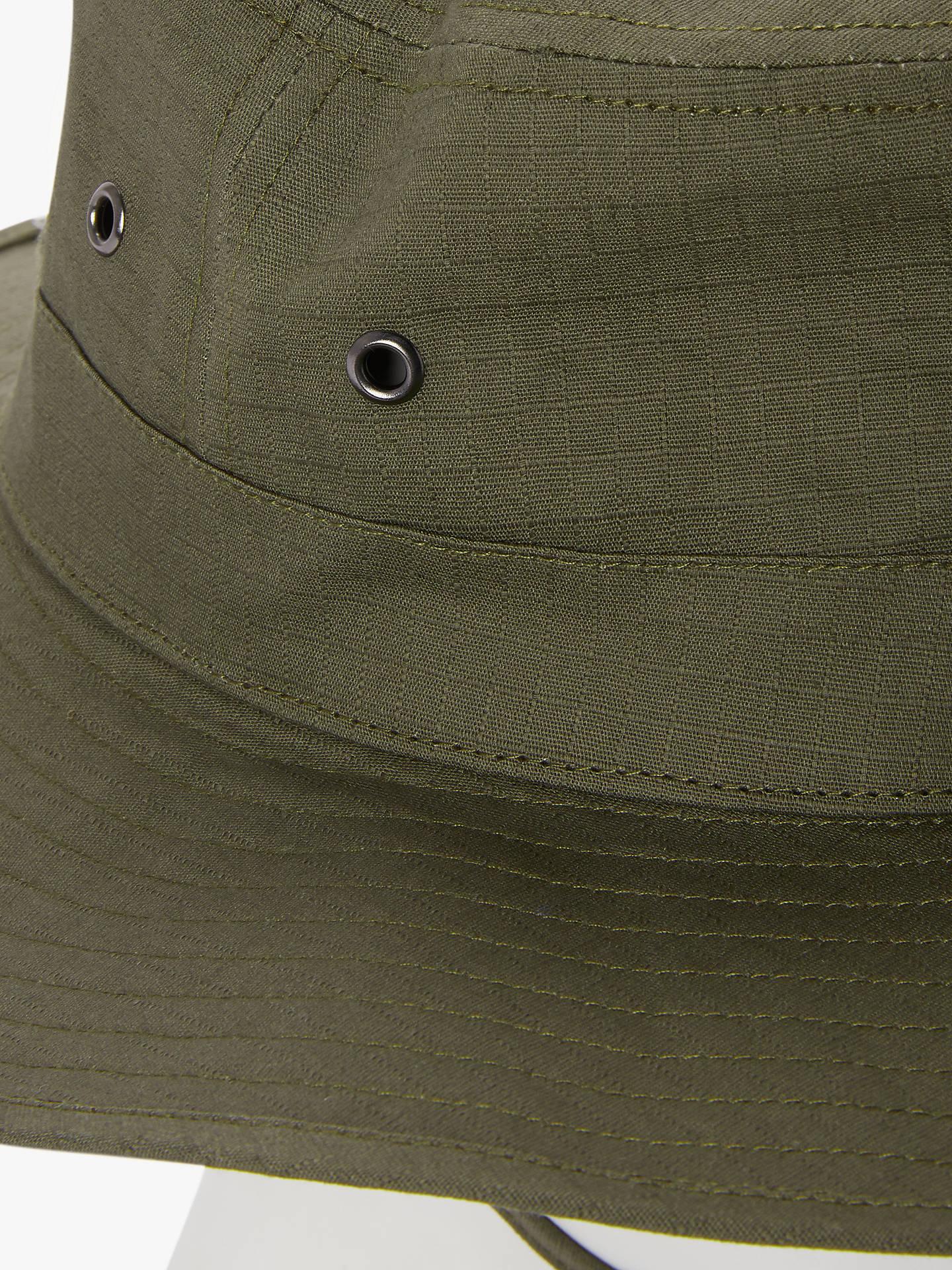 official photos d71e8 c454c Buy John Lewis   Partners Cotton Safari Hat, Khaki, S-M Online at johnlewis.