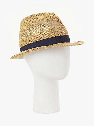 John Lewis & Partners Straw Trilby Hat, Natural
