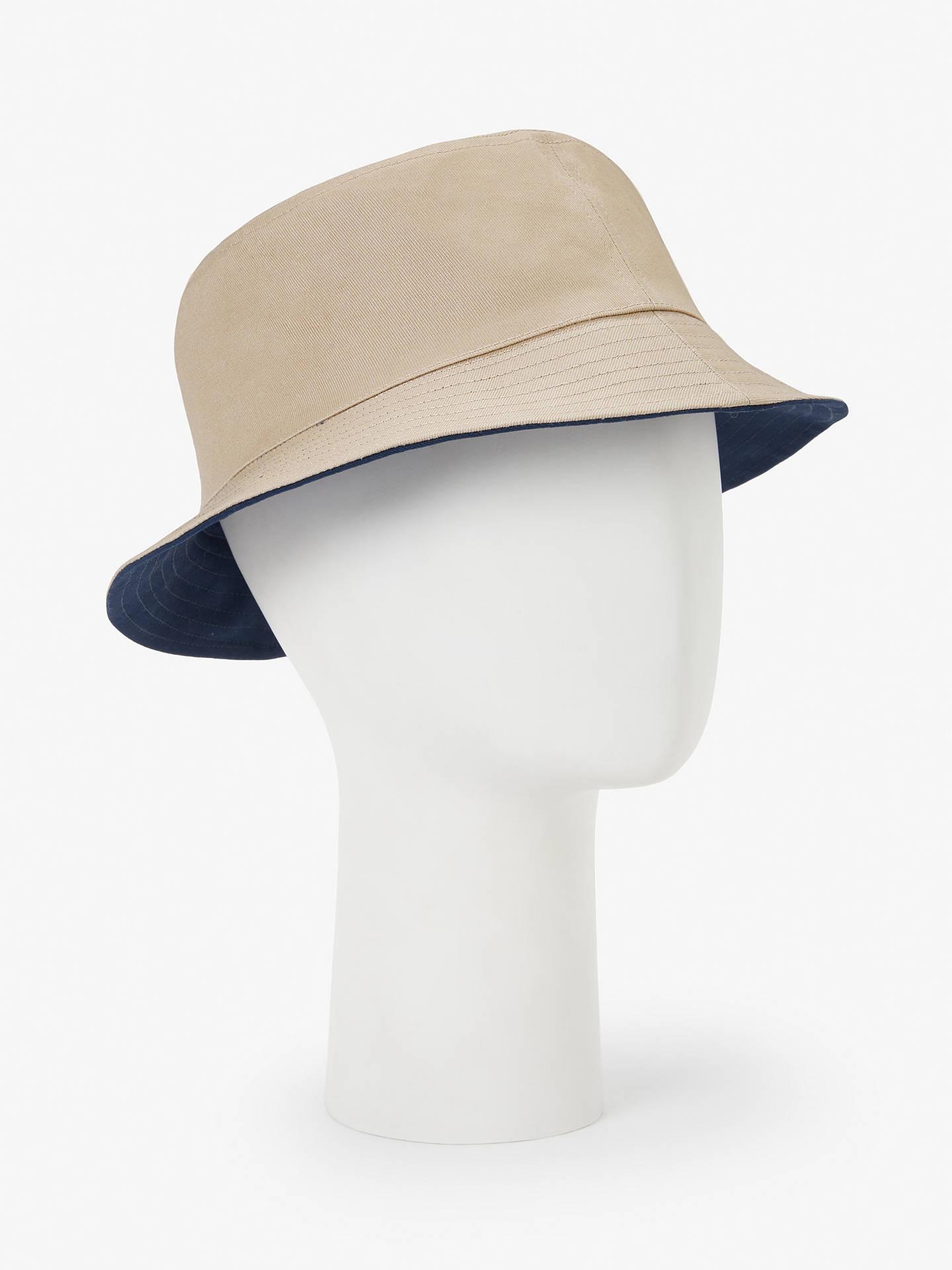 269ca4ebf John Lewis & Partners Reversible Bucket Hat, Beige/Navy