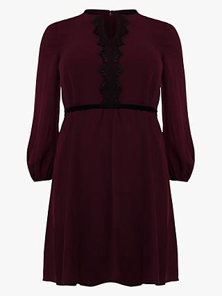 Studio 8 Emerson Geometric Trim Dress, Merlot